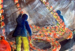 Aquarelle et gouache / 70 x 50