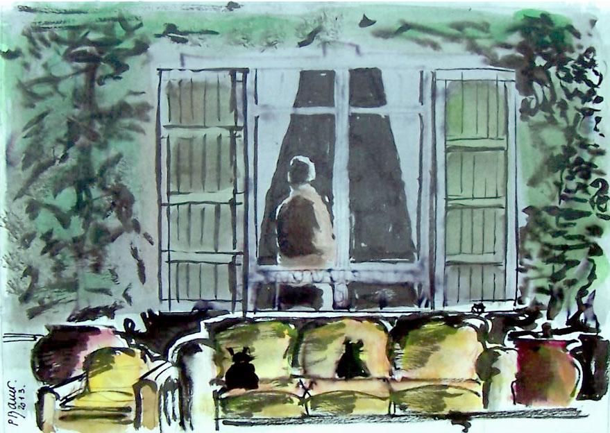 Encre et aquarelle / 70 x 50