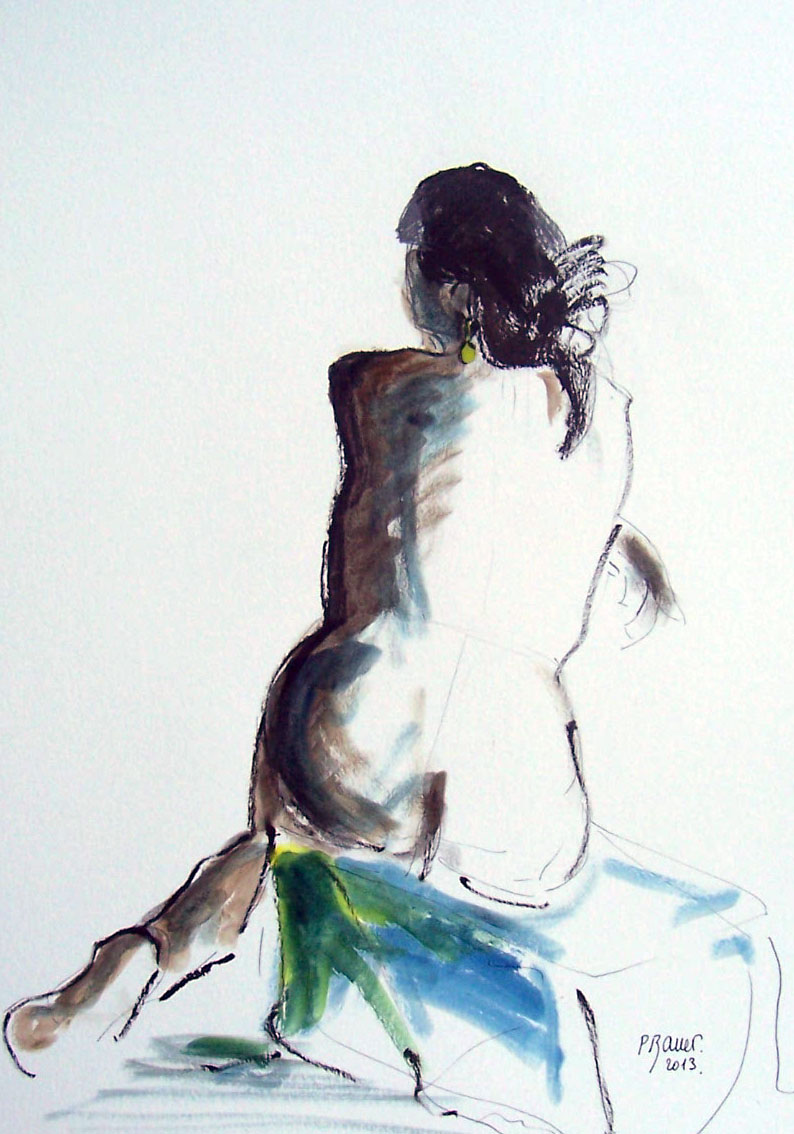 Encre et aquarelle / 20 x 30