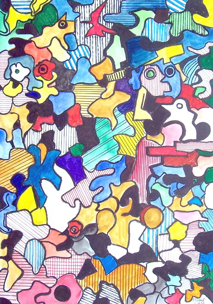 Aquarelle et encre / 50 x 70