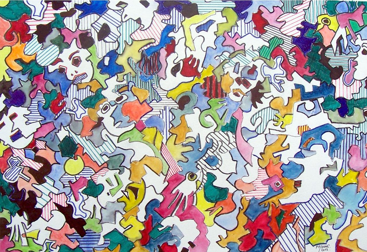 Aquarelle et encre / 70 x 50
