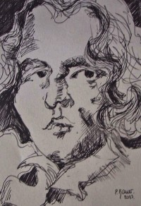 Portrait d'Oscar Wilde / Encre / 30 x 45