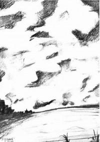 Horizon / Encre / 50 x 70