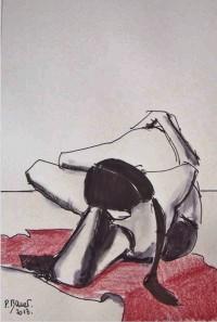 Nu / Encre et aquarelle / 30 x 45