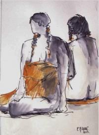 Nus / Encre et aquarelle / 30 x 45