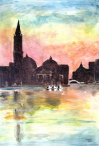Venise / Aquarelle et encre / 50 x 70