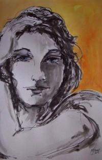 Portrait / Encre et aquarelle / 50 x 70