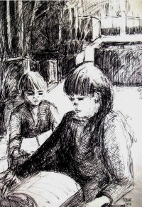 Lectures / Encre / 50 x 70