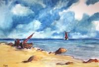 Marine / Aquarelle / 70 x 50