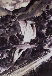 Cascades / Encre / 50 x 70