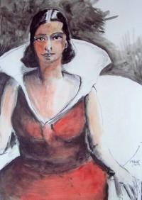 La fée / Encre et aquarelle / 50 x 70