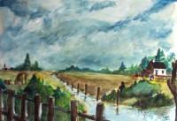 Le ruisseau / Aquarelle / 70 x 50