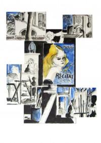 Pêle-mèle ateliers / Encre et aquarelle / 50 x 70