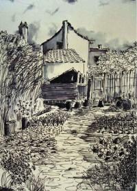 Le potager / Encre / 50 x 70