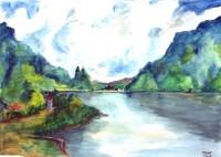 Rivière / Aquarelle / 70 x 50
