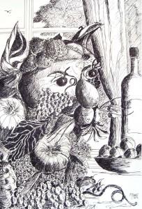L'esprit du potager / Encre / 50 x 70
