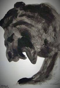 Le roi lion 2 / Encre / 30 x 45