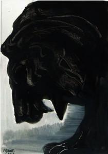 Le roi lion 1 / Encre / 30 x 45