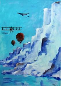 Rendez - vous au pôle / Acrylique / 50 x 70