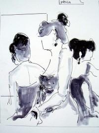 Trio / Encre / 30 x 50