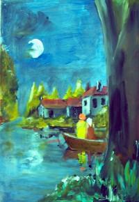 Clair de lune / Acrylique / 50 x 70