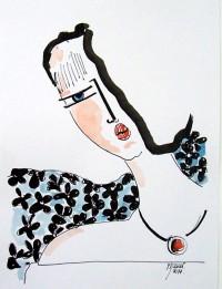 Profil / Encre et aquarelle / 20 x 30