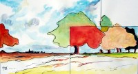 Paysage / Aquarelle / 50 x 30