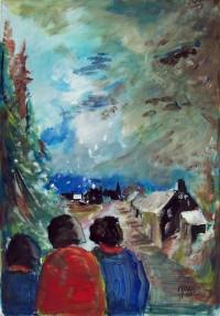 Promenade hivernale / Acrylique / 50 x 70