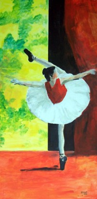 Danseuse / Acrylique sur panneau / 45 x 90