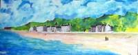 La plage / Acrylique sur panneau / 90 x 45
