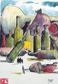 Chaos vinilique / Aquarelle / 50 x 70