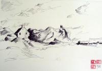 Cahos breton / Encre / 50 x 65