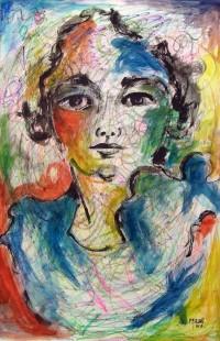 Portrait / Aquarelle et feutres / 65 x 50