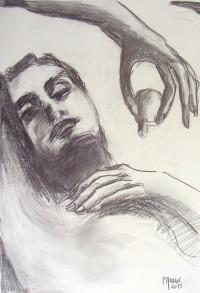 L'endormie au parfum / Mines de plomb / 65 x 50