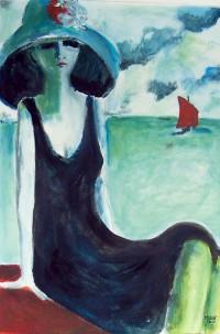 En bordure de mer / Acrylique / 65 x 50