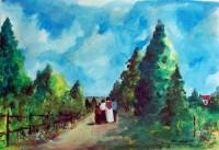 Promenade champêtre / Acrylique / 50 x 65