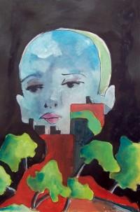 L'esprit de la ville / Acrylique / 65 x 50
