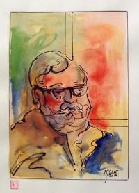Portrait / Aquarelle et encre / 40 x 30