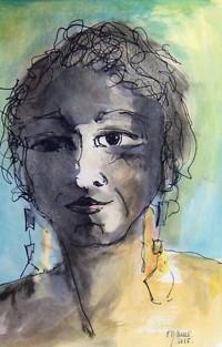 Portrait/ Aquarelle et encre / 40 x 30Portrait100_8458