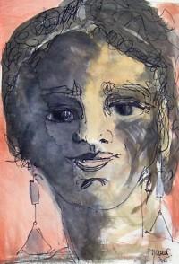 Portrait/ Aquarelle et encre / 40 x 30