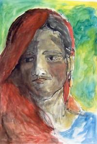 Portrait / Aquarelle et gouache / 65 x 50