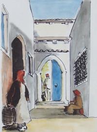 L entrée / Encre et aquarelle / 40 x 30