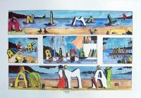 Animal: Bord de mer / Gouache / 50 x 65