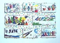 La Fète / Encre et aquarelle / 70 x 50