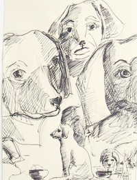 Groupe canin / Encre / 19 x 26