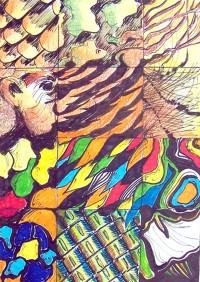Structures animalières / Encre et feutres / 30 x 40