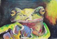 Portrait de Grenouille / Encre et aquarelle / 70 x 50
