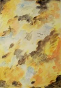 Effet nuageux / Aquarelle / 50 x 70