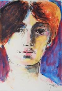 Portrait / Aquarelle et encre / 30 x 40