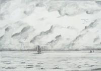 Marine / Mines de plomb / 40 x 30